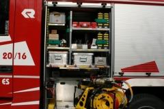 Ein hydraulischer Rettungssatz mit Schere und Spreitzer